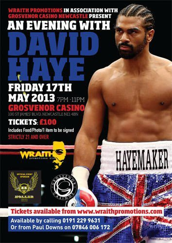 Holler Sponsors an Evening with David Haye